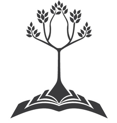 Growing tree from book vector
