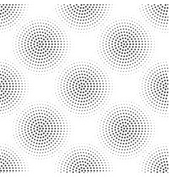 Halftone dotted seamless pattern retro comic pop vector
