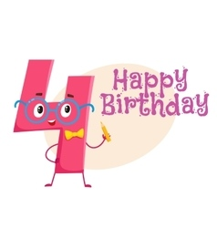 Happy birthday greeting card design with vector image