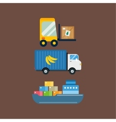 Import fruits delivery transport vector