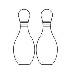 Isolated pin of bowling sport design vector