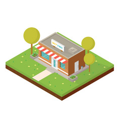 isometric small shop vector image