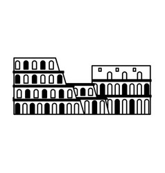 italy coliseum landmark vector image
