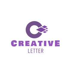 letter c symbol logo design for creative vector image