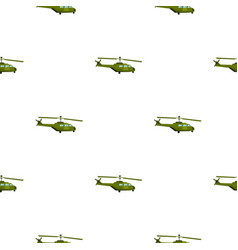 Military helicopter pattern flat vector