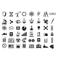 monochrome set of different chemical symbols and vector image vector image