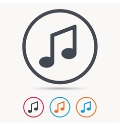 Music icon Musical note sign vector image vector image