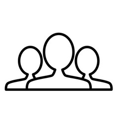 people group team line icon outline sign vector image vector image