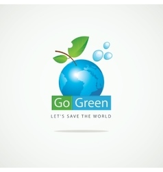 Planet Earth Go Green vector image vector image