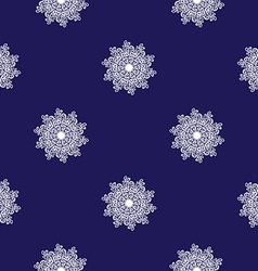 seamless mosaic pattern white snowflakes vector image vector image