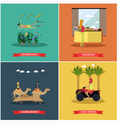 set of egypt concept posters banners in vector image
