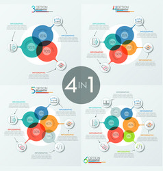 Set of modern infographic design templates with 3 vector
