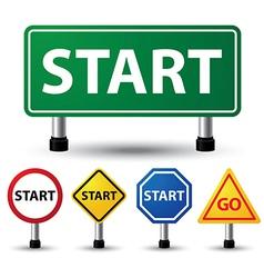 Start sign vector