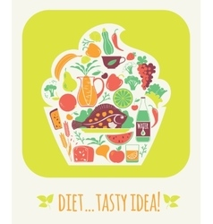Tasty diet vector