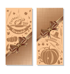 Vertical banners set for thanksgiving vector