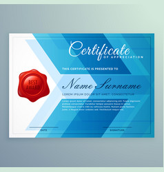 Diploma certificate template made with abstract vector