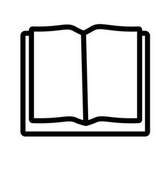 Opened book icon vector