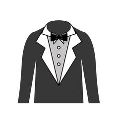 Male wedding dress icon vector