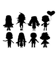 with child silhouettes collection vector image