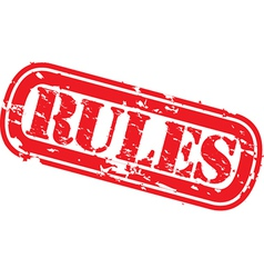 Rules grunge rubber stamp vector image