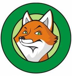 fox in frame vector image