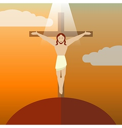 Flat icon jesus3 vector