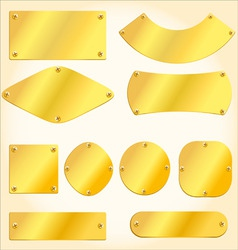 golden plates vector image