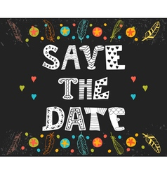 Save the date card wedding invitation card with vector