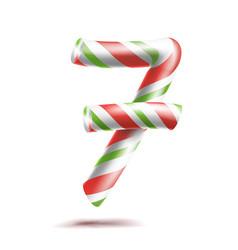 7 number seven 3d number sign figure 7 vector image vector image