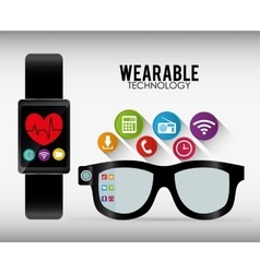Wearable technology graphic vector
