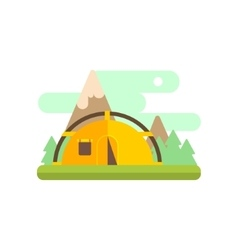 Mountsin Camping vector image