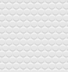 3d white background seamless pattern with circles vector