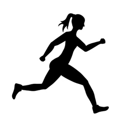 Woman of side running sport concept vector