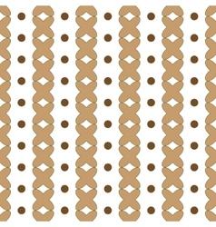 Polka dot and cross geometric seamless pattern vector image