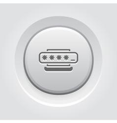 Access Password Icon Flat Design vector image vector image