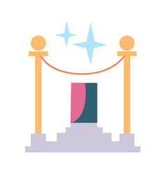 Award rope barrier icon vector