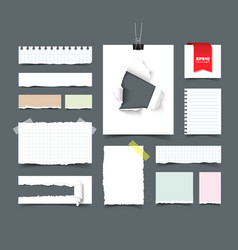 Big collection of office paper vector image