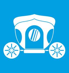 Brougham icon white vector