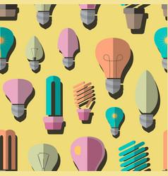 bulb logo icons set pattern vector image