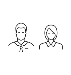 Business people line icons vector image vector image