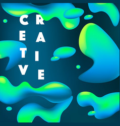 creative fluid shapes vector image