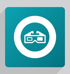 flat 3d movie icon vector image