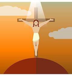 Flat icon Jesus3 vector image