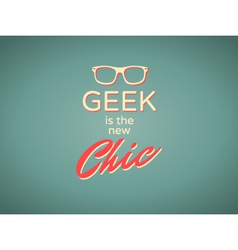 geek chic vector image