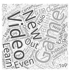 Keeping on top of gaming news word cloud concept vector