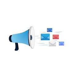 Louder send message emails vector
