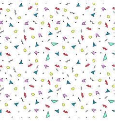 Memphis color pattern - seamless vector