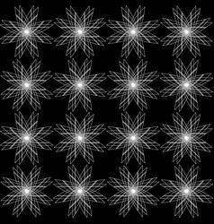 Monochrome geometrical pattern of stars vector
