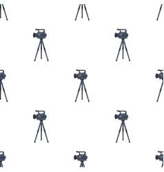 Movie camera on a tripod making a movie single vector