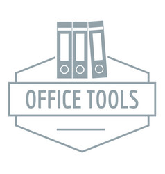 office tool logo simple gray style vector image